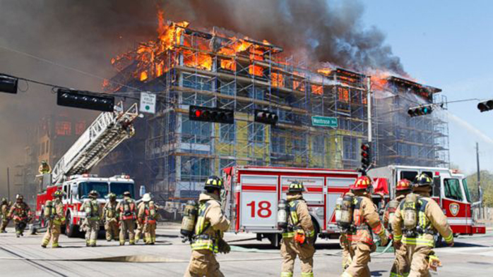 Image result for fire in construction