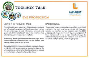 lhsfna toolbox talks promote safety health on the job lhsfna